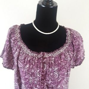 FADED GLORY  Shoulders Off Embroider Size Large Pu